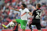 FUSSBALL   1. BUNDESLIGA   SAISON 2011/2012    2. SPIELTAG Bayer 04 Leverkusen - SV Werder Bremen              14.08.2011 Claudio PIZARRO (li, Bremen) gegen Michal KADLEC (re, Leverkusen)