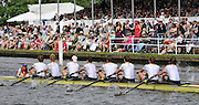 Henley, GREAT BRITAIN, 2012  Temple Challenge Cup, M8+, Amsterdamsche Studenten Roeivereeniging Nereus Holland 'B', NED, race pass Stewards' Enclosure. Thursday   15:37:06   28/06/2012  [Mandatory Credit, Intersport Images]. ...Rowing Courses, Henley Reach, Henley, ENGLAND . HRR