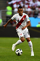 16th June 2018, Mordovia Arena, Mordovia, Russia; FIFA World Cup WM Weltmeisterschaft Fussball Football, Group C, Peru versus Denmark; Christian Cueva of Peru PUBLICATIONxINxGERxSUIxAUTxHUNxSWExNORxDENxFINxONLY ActionPlus12037504 UlrikxPedersen