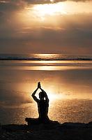 The golden ritual of greeting the dawn in Bali, Indonesia.