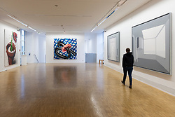 Gallery interio at Light Box modern art museum at Bomann Museum in Celle, lower Saxony, Germany