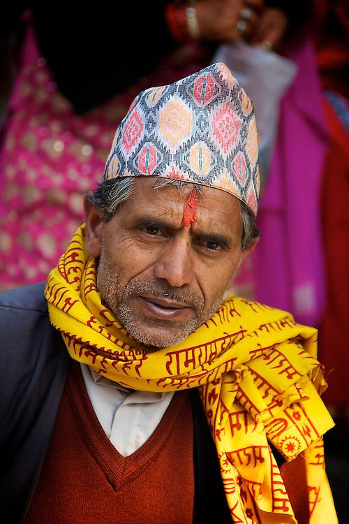 Fortune teller in Patan Durbar Square, Lalitpur, Kathmandu valley, Nepal.