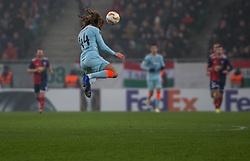 December 13, 2018 - Budapest, Hungary - Ethan Ampadu in action during the UEFA Europa League Group L match between MOL Vidi FC and Chelsea FC at Groupama stadium on Dec 13, 2018 in Budapest, Hungary. (Credit Image: © Robert Szaniszlo/NurPhoto via ZUMA Press)