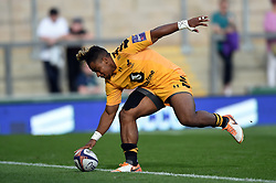 Paolo Odogwu of Wasps scores a try against Bristol Bears - Mandatory byline: Patrick Khachfe/JMP - 07966 386802 - 14/09/2019 - RUGBY UNION - Franklin's Gardens - Northampton, England - Premiership Rugby 7s (Day 2)