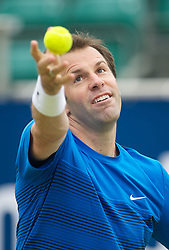 LIVERPOOL, ENGLAND - Thursday, June 21, 2012: Greg Rusedski (GRB) during the opening day of the Medicash Liverpool International Tennis Tournament at Calderstones Park. (Pic by David Rawcliffe/Propaganda)