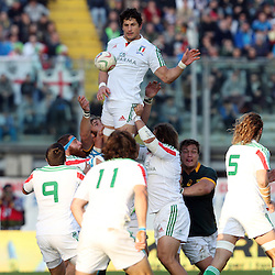 PADUA, ITALY - NOVEMBER 22: Alessandro Zanni of Italy during the Castle Lager Outgoing Tour match between Italy and South African at Stadio Euganeo on November 22, 2014 in Padua, Italy. (Photo by Steve Haag/Gallo Images)