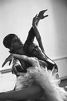 Roberta Marquez and Ivan Putrov rhearsing Swan Lake. Royal Ballet tour, Mariinsky Theatre,St. Petersburg, Russia<br /> <br /> Music: Pietr Ilyich Tchaikovsky