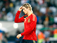 Fernando Torres Spain and Liverpooll  FIFA Confederations Cup South Africa 2009 <br /> Spain   v Iraq Group B at Free State  Stadium Mangaung / Bloemfontein South Africa<br /> 17/06/2009 Credit Colorsport / Kieran Galvin