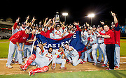 The Springfield Cardinals pose for a photo after game 4 of the Texas League Championship Series against the Frisco RoughRiders at Dr. Pepper BallPark on September 15, 2012 in Frisco, TX. The Cardinals became the 2012 Texas League Champions after defeating the RoughRiders 2-1.  (David Welker)