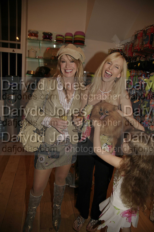 Cindy Jackson, Anneka Svenska and 'Suzy' with Anneka's daughter Annalise, Opening of The Mutz Nutz; Westbourne Park Rd. London. 23 August 2006.  ONE TIME USE ONLY - DO NOT ARCHIVE  © Copyright Photograph by Dafydd Jones 66 Stockwell Park Rd. London SW9 0DA Tel 020 7733 0108 www.dafjones.com