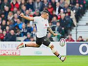 English born Fijian Josh Matevasi during the Autumn International Series match between England and Fiji at Twickenham, Richmond, United Kingdom on 19 November 2016. Photo by Ian  Muir.