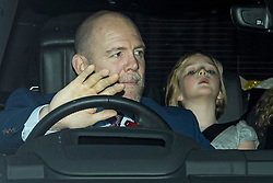 © Licensed to London News Pictures. 18/12/2019. London, UK.MIKE TINDALL and daughter MIA TINDALL. Members of the Royal Family seen leaving Buckingham Palace in West London after attending the Queen's annual Christmas lunch. Photo credit: Ben Cawthra/LNP