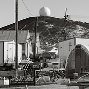 Radar Sat dome and buildings.