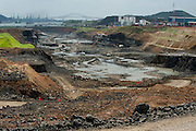 Excavation works at Panama Canal expansion project. Panama City, Panama, Central America.