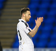 Dundee's Marc Klok applauds the travelling support at the end - Inverness Caledonian Thistle v Dundee in the Ladbrokes Scottish Premiership at Caledonian Stadium, Inverness.Photo: David Young<br /> <br />  - © David Young - www.davidyoungphoto.co.uk - email: davidyoungphoto@gmail.com