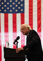 April 25 2016: Democratic Presidential Candidate Bernie Sanders speaks at his A Future to Believe In Rally at the Fitzgerald Field House in Pittsburgh, Pennsylvania (Photo by Justin Berl)