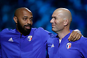 Thierry Henry (France 98), Zinedine Zidane (France 98) during the 2018 Friendly Game football match between France 98 and FIFA 98 on June 12, 2018 at U Arena in Nanterre near Paris, France - Photo Stephane Allaman / ProSportsImages / DPPI
