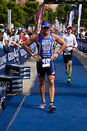 Dmitri Simons (AUS). Subaru Olympic Distance Triathlon. 2012 Geelong Multi Sport Festival. Eastern Beach, Geelong, Victoria, Australia. 12/02/2012. Photo By Lucas Wroe