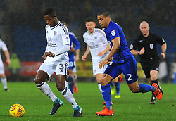 Lee Peltier of Cardiff City applies pressure on Ryan Sessegnon of Fulham - Mandatory by-line: Nizaam Jones/JMP- 26/12/2017 -  FOOTBALL - Cardiff City Stadium - Cardiff, Wales -  Cardiff City v Fulham - Sky Bet Championship