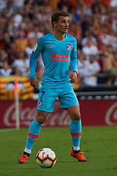 August 20, 2018 - Valencia, U.S. - VALENCIA, SPAIN  - AUGUST 20:  Griezmann forward of Atletico de Madrid during the La Liga between Valencia CF and Atletico de Madrid on August 20, 2018 at Mestalla in Valencia, Spain. (Photo by Carlos Sanchez Martinez/Icon Sportswire) (Credit Image: © Carlos Sanchez Martinez/Icon SMI via ZUMA Press)