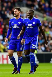 Sean Morrison of Cardiff City and Souleymane Bamba of Cardiff City - Mandatory by-line: Ryan Hiscott/JMP - 30/09/2018 -  FOOTBALL - Cardiff City Stadium - Cardiff, Wales -  Cardiff City v Burnley - Premier League