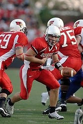 16 September 2006: Luke Drone leans out to hand off the ball. The Eastern Illinois Panthers and The Illinois State Redbirds have a long standing rivalry. This years competition commenced at Hancock Stadium on the campus of Illinois State University in Normal Illinois.