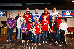 Luke Ayling and Derrick Williams of Bristol City and Auguy Slowik and Ben Mosses of Bristol Rugby pose with young fans as Season ticket holders and members of Bristol Sport 7s and Forever Bristol take part in a Bristol Sport Christmas Party - Mandatory byline: Rogan Thomson/JMP - 22/12/2015 - SPORT - Ashton Gate Stadium - Bristol, England - Bristol Sport Christmas at Ashton Gate.