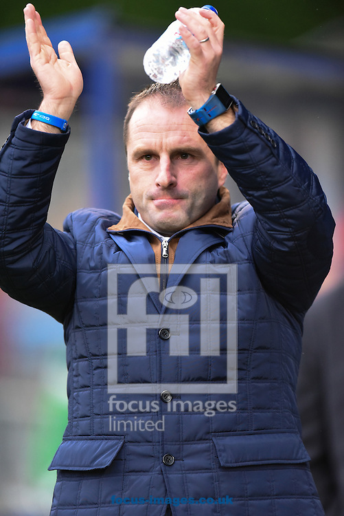 Darren Kelly Manager of FC Halifax during the FA Cup match at Shay Stadium, Halifax<br /> Picture by Richard Land/Focus Images Ltd +44 7713 507003<br /> 08/11/2015