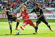20-08-2017: Voetbal: FC Utrecht v Willem ll: Utrecht<br /> <br /> (L-R) Pedro Chirivella (Willem II), FC Utrecht speler Lukas Gortler, Darryl Lachman (Willem II) tijdens het Eredivisie duel tussen FC Utrecht en Willem II op 20 augustus 2017 in stadion Galgenwaard te Utrecht<br /> <br /> Eredivisie - Seizoen 2017 / 2018 (speelronde 2)<br /> <br /> Foto: Gertjan Kooij