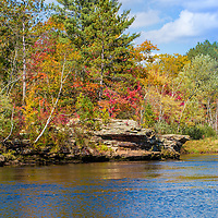 An overview of fall colors on the kettle river in Sandstone Minnesota.