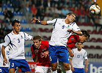 Fotball , 7. oktober 2011 Aserbajan-Østerrike <br /> <br /> Kvalifisering EM,<br />  Bild zeigt Sasha (AZE), Marc Janko (AUT), Elnur Allahverdiyev (AZE) und Paul Scharner (AUT)<br /> Norway only