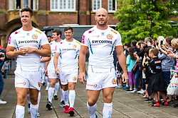 Exeter Chiefs launch their 2018/19 Away and Cup kits with a family event by the Exeter Canal Basin - Rogan/JMP - 01/07/2018 - RUGBY UNION - The Quay - Exeter, England.