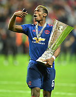 Paul Pogba mit Pokal, Manchester Europa League Sieger 2017Manchester Europa League Sieger 2017<br /> Stockholm, 24.05.2017, Fussball, Europa League, Finale 2017, Ajax Amsterdam - Manchester United 0:2<br /> norway only