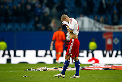 FUSSBALL: Deutschland, 1. Bundesliga, Hamburger SV - SC Freiburg 1:3, Hamburg, 17.03.2012<br /> Enttaeuschung bei Mladen Petric (HSV)<br /> © pixathlon *** Local Caption *** +++ www.hoch-zwei.net, copyright: HOCH ZWEI / Philipp Szyza +++