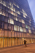 Paris, the BNF , national french library at dusk / La BNF la nuit