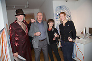 RICHARD STRANGE; VIVIANNE MAYOR; ROBBIE MOFFAT; KELLY DEARSLEY;, Closing party Mayor Gallery, Cork St. London. 17 December 2013