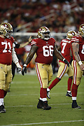 San Francisco 49ers defensive tackle Will Sutton (66) in action during the 2018 NFL preseason week 4 football game against the Los Angeles Chargers on Thursday, Aug. 30, 2018 in Santa Clara, Calif. The Chargers won the game 23-21. (©Paul Anthony Spinelli)