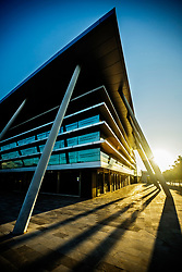 """""""Son Valentí"""" office building.<br /> Palma de Mallorca, Illes Balears.<br /> The property bubble was not only about the residential market. All around Spain it is easy to find empty or nearly empty office buildings like this one."""
