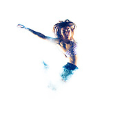 Sports fashion/action images shot using a smoke machine and Broncolor lighting