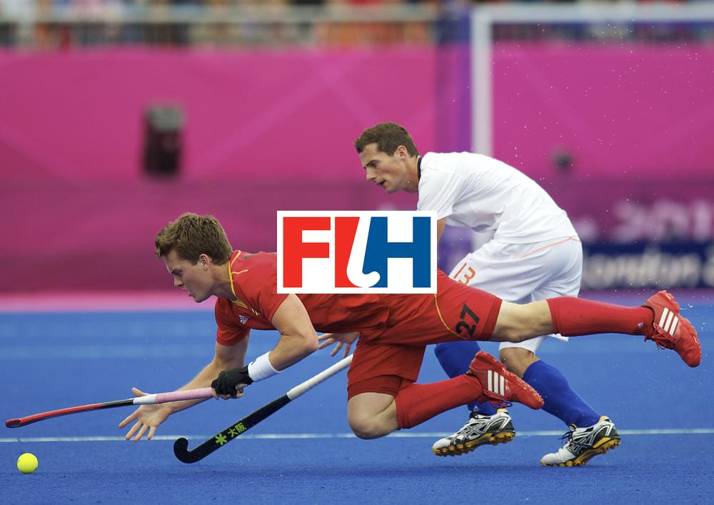 LONDON - Olympische Spelen 2012.Men match .Belgium v Netherlands.foto: Tom Boon and Sander Baart..FFU Press Agency COPYRIGHT FRANK UIJLENBROEK.