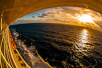 Looking at the Atlantic Ocean from the new Disney Dream cruise ship sailing between Florida and the Bahamas.