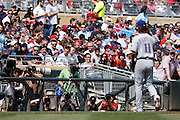 MINNEAPOLIS, MN - APRIL 14: Photographers zoom in on Yu Darvish #11 of the Texas Rangers after he leaves the game against the Minnesota Twins at Target Field on April 14, 2012 in Minneapolis, Minnesota. (Photo by Joe Robbins)