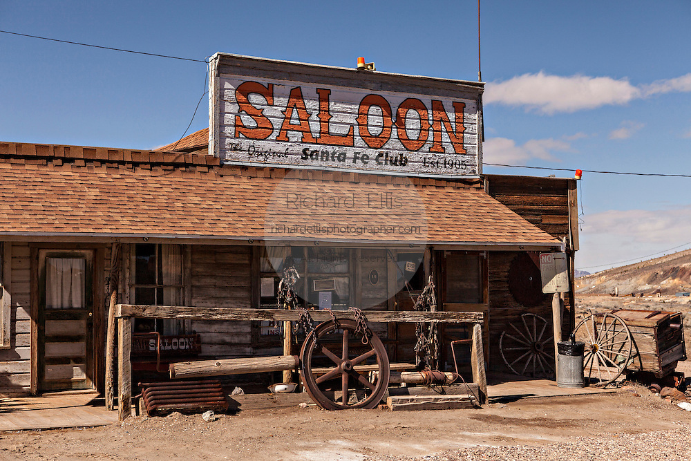 Santa Fe Club and Saloon in former gold mining boomtown turned ghost town Goldfield, Nevada, USA
