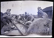 soldiers washing their clothing 1900s