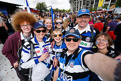 Bath fans soak up the atmosphere before the game - Photo mandatory by-line: Rogan Thomson/JMP - 07966 386802 - 30/05/2015 - SPORT - RUGBY UNION - London, England - Twickenham Stadium - Bath Rugby v Saracens - 2015 Aviva Premiership Final.