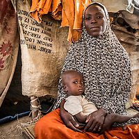 Faul&eacute; 25 years, she has 6 children, they live in the camp.<br /> She cames from the village Karamawadji, 3 km from the camp.<br /> &quot;Nine months ago Boko Haram attacked my village, they burned everything, stole the livestock and killed my husband, he was a truck driver&quot;<br /> &quot;Here I live only thanks to charity, I have nothing&quot;