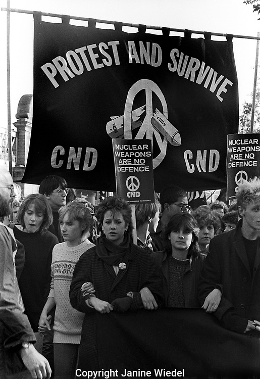 CND March and protest through central London in October 1983
