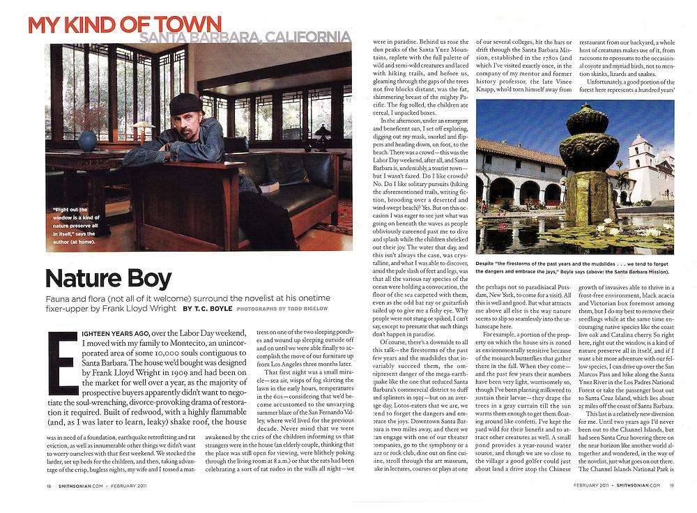 Published profile on author TC Boyle for Smithsonian magazine.