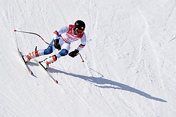 BROISIN Jordan LW4 FRA competing in the Para Alpine Skiing Downhill at the PyeongChang2018 Winter Paralympic Games, South Korea