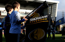 Worcester Warriors flag bearers - Mandatory by-line: Robbie Stephenson/JMP - 28/01/2017 - RUGBY - Sixways Stadium - Worcester, England - Worcester Warriors v Harlequins - Anglo Welsh Cup